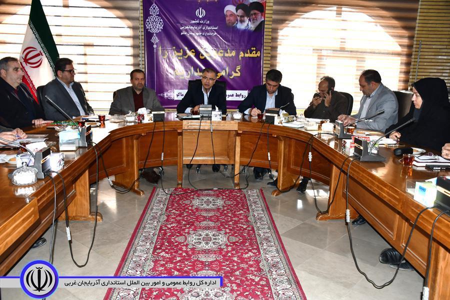جلسه مشورتی دهیاران شهرستان ماکو برگزار شد
