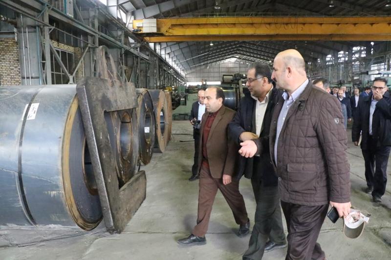 بازدید شش ساعته معاون استاندار آذربایجان غربی از مجموعه کارخانجات فولاد نورد ارومیه
