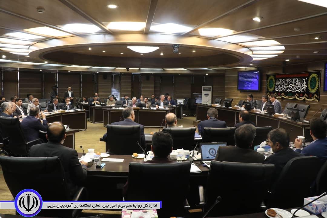 برگزاری جلسه کارگروه تخصصی امور زیربنایی و توسعه استان به ریاست استاندار آذربایجان غربی