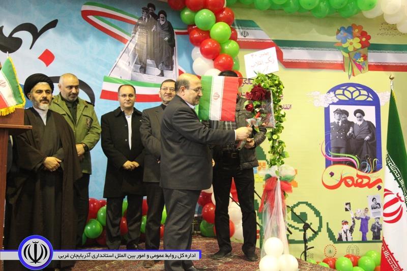 نواخته شدن زنگ انقلاب با حضور معاون سیاسی امنیتی استاندار آذربایجان غربی