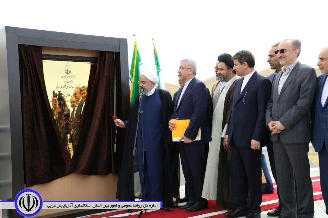 آغاز عملیات آبگیری و بهرهبرداری از سد مخزنی کرم آباد پلدشت با حضور دکتر روحانی