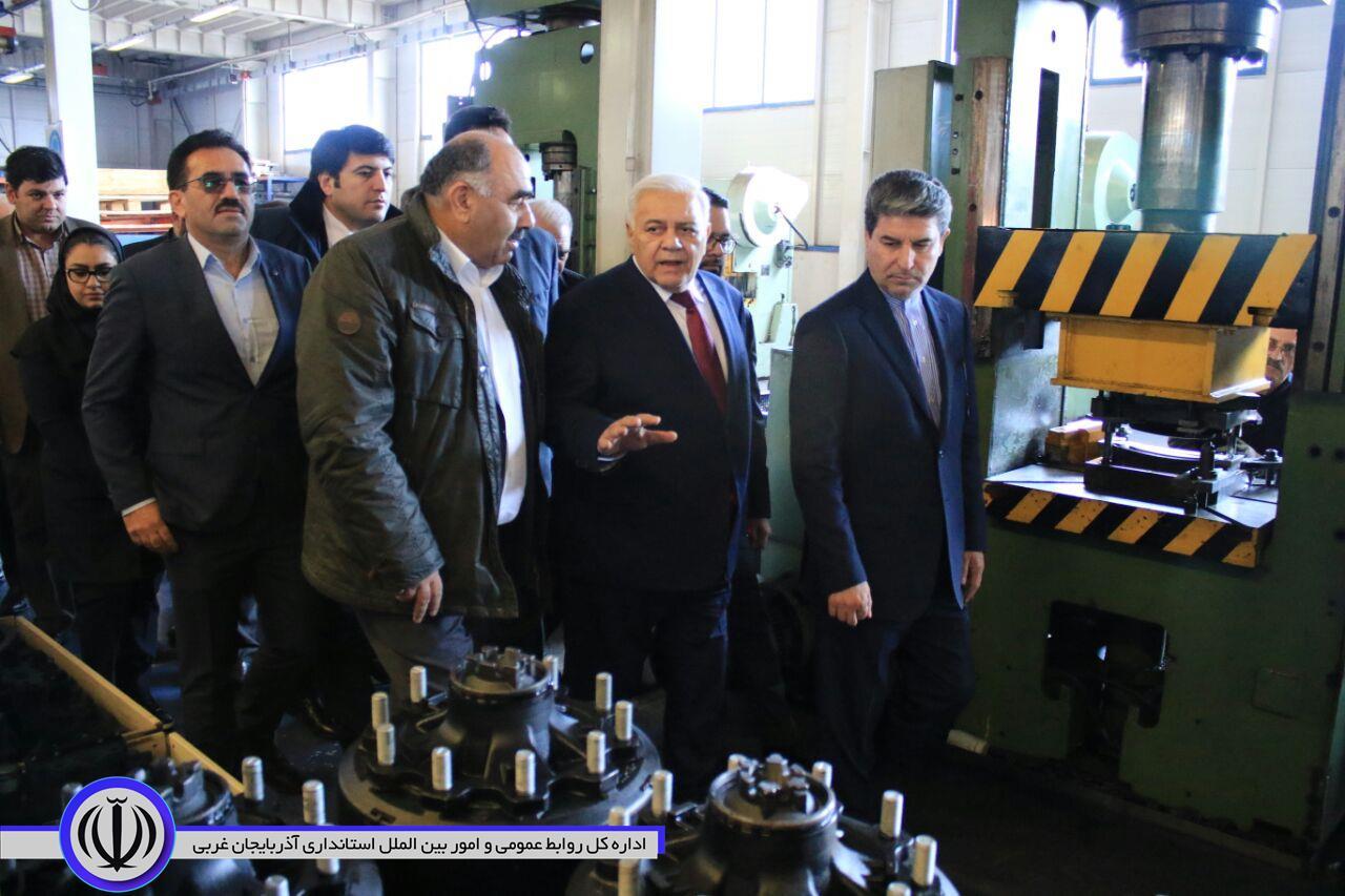بازدید رئیس مجلس ملی جمهوری آذربایجان از کارخانه مارال صنعت در ارومیه