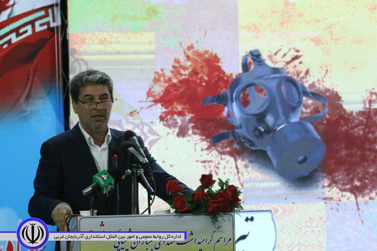 متن سخنرانی استاندار آذربایجان غربی در مراسم گرامیداشت سالروز بمباران شیمیایی سردشت