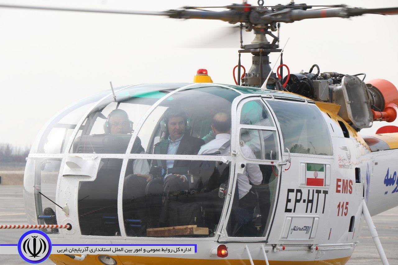 آلبوم تصویری/ استقرار نخستین بالگرد اورژانس هوایی در فرودگاه ارومیه با حضور استاندار آذربایجان غربی- ۹۸/۱/۴