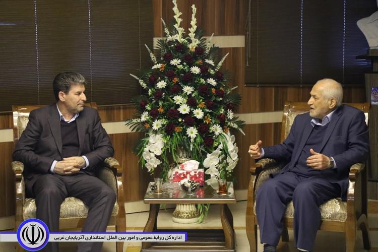 دیدار استاندار آذربایجان غربی با مدیرعامل ستاد دیه کشور