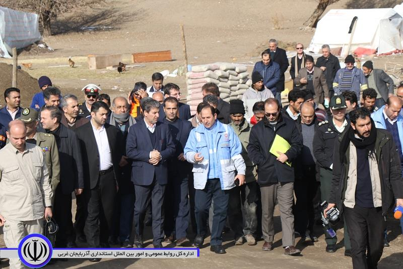 بازدید «شهریاری» از مناطق زلزلهزده آذربایجانشرقی