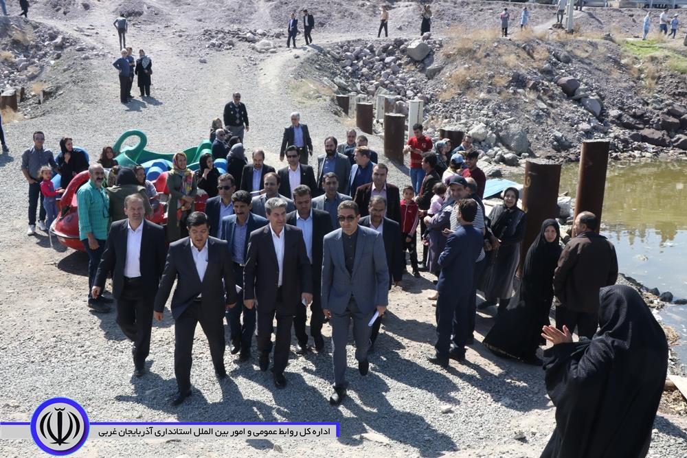 بازدید محمدمهدی شهریاری استاندار آذربایجان غربی از دریاچه ارومیه- 98.1.23