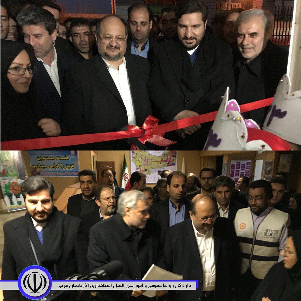 با حضور وزیر تعاون، کار و رفاه اجتماعی  و استاندار آذربایجان غربی  2 طرح زیربنایی در سلماس افتتاح شد